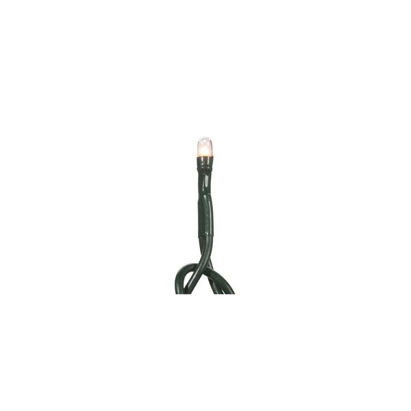 Set of 20 Battery Operated Clear Micro Rice Christmas Lights - Green Wire