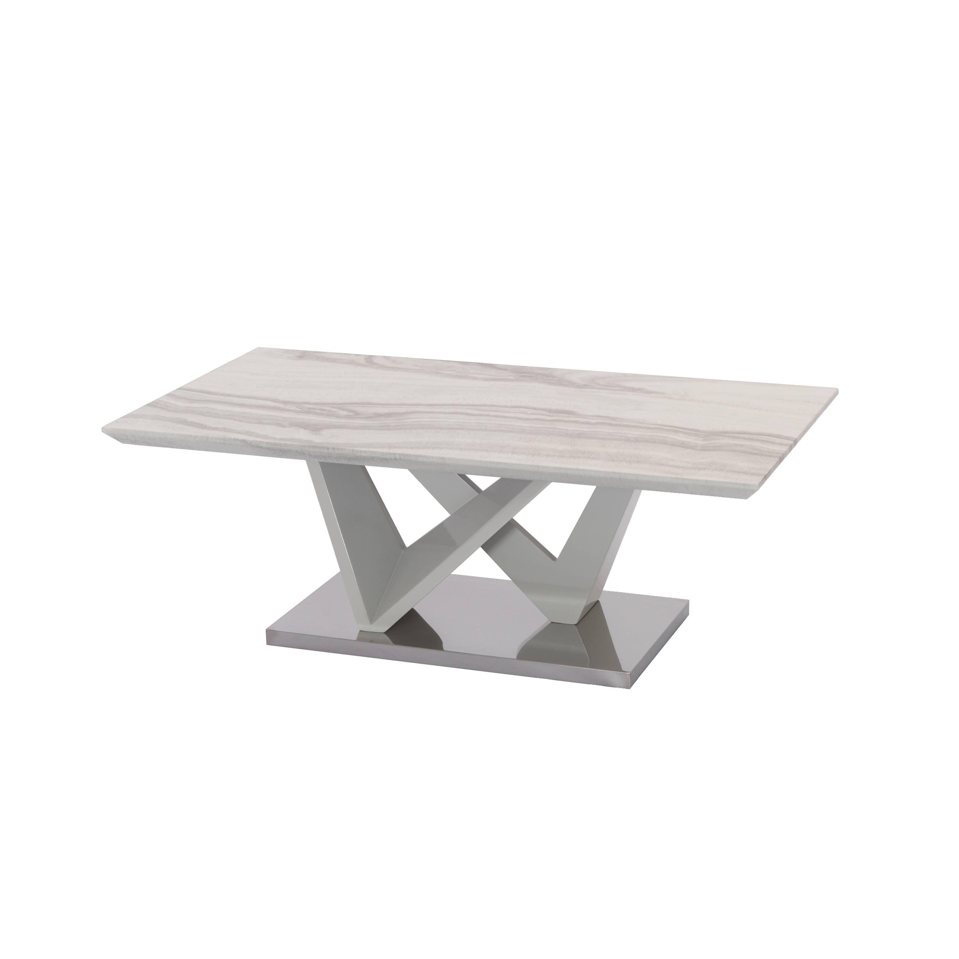 Best Quality Family Marble Coffee Table With Stainless Steel Base Overstock 31758918