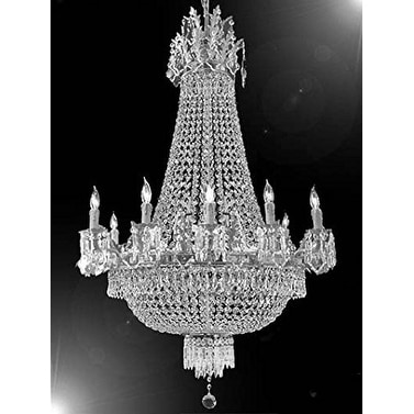 Swarovski crystal trimmed chandelier french empire crystal swarovski crystal trimmed chandelier french empire crystal chandelier lighting chandeliers silver mozeypictures Choice Image
