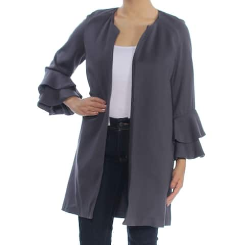 KENSIE Womens Gray Open Cardigan Jacket Size S
