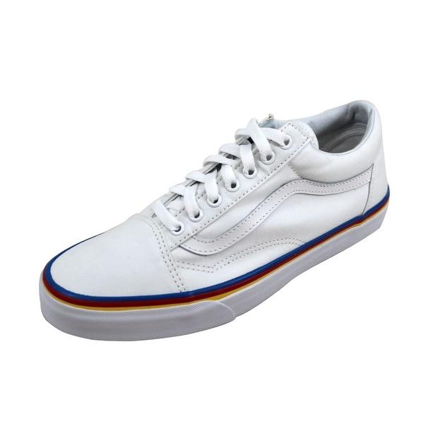 663d3fe0570 Shop Vans Men s Old Skool True White Rainbow Foxing VN0A38G1MWF ...