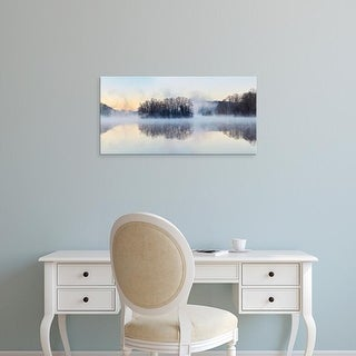 Easy Art Prints James McLoughlin's 'Scene on the Water VIII' Premium Canvas Art