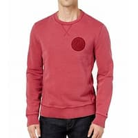 Tommy Hilfiger Red Mens Size Medium M Crewneck Cotton Sweater