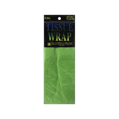 8080 cindus tissue wrap 20x20 10pc solid light green