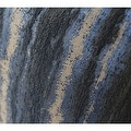 "G Home Collection Luxury Blue Mix Color Stripe Pattern Metallic Chenille Pillow 20""X20"" - Thumbnail 3"