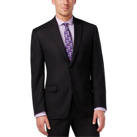 Shaquille O'neal Mens Texture Two Button Blazer Jacket - 44 Regular