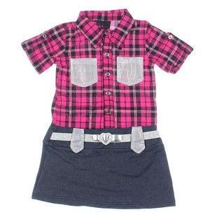 Girls Rule! Metallic Girls Casual Dress - 2T