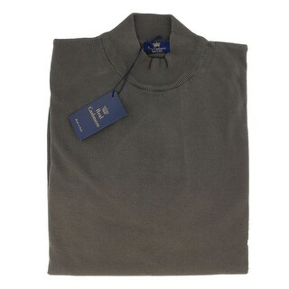 Real Cashmere Mock Neck Big Mens Taupe Sweater (5 options available)