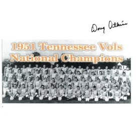 Doug Atkins signed Tennessee Volunteers 1951 Vintage  Team B&W 8.5x11 Photo