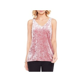 Vince Camuto Womens Tank Top Crushed Velvet