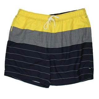 Nautica Mens Colorblock Striped Swim Trunks - XL