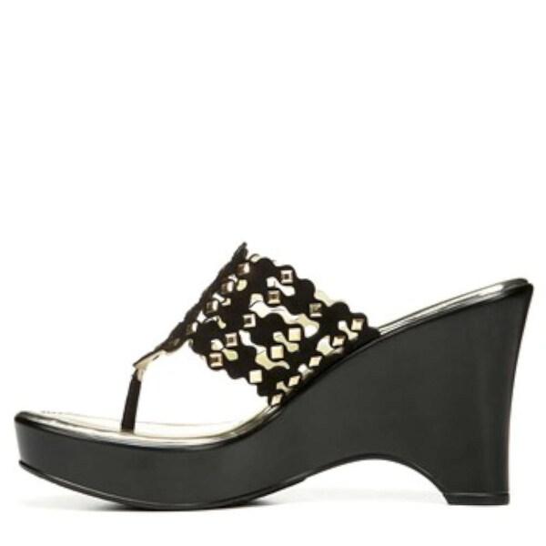 Carlos by Carlos Santana Womens Karina Fabric Open Toe Casual Slide Sandals