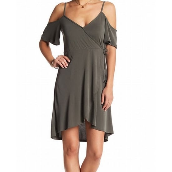 e1139cba6d0 Shop Socialite NEW Green Olive Cold-Shoulder Faux-Wrap Women XL Sheath Dress  - Free Shipping On Orders Over  45 - Overstock - 18410032