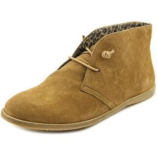 Lucky Brand Ashbee Women Round Toe Leather Brown Chukka Boot