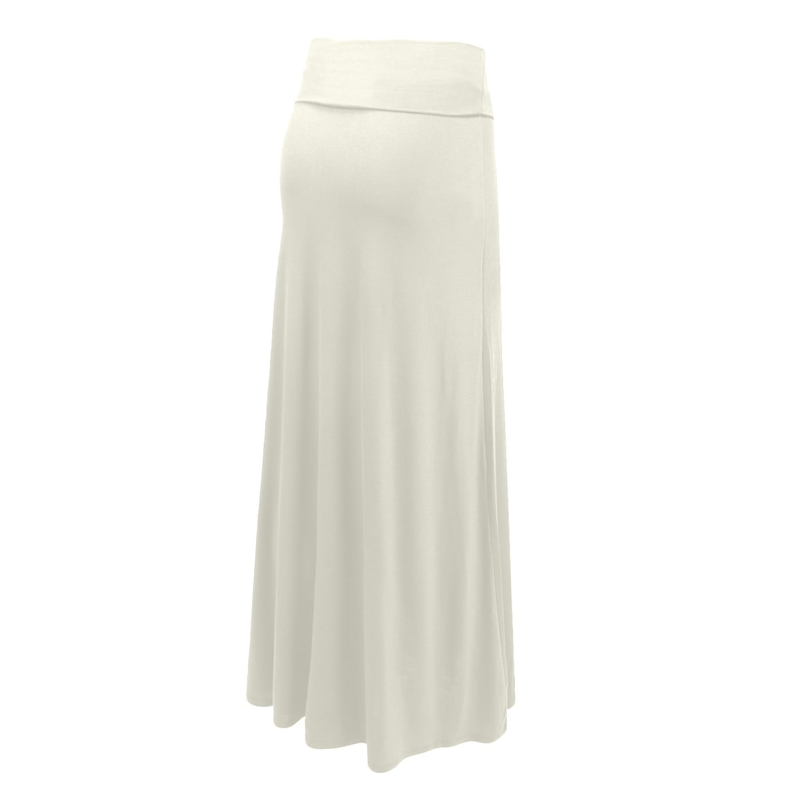 NE PEOPLE Womens Stretchy Premium Basic Foldover Jersey Maxi Skirts