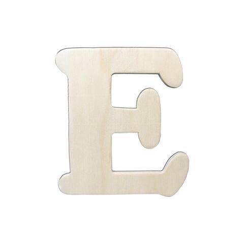 9181-e darice wood shape unfin letter 4 25 e