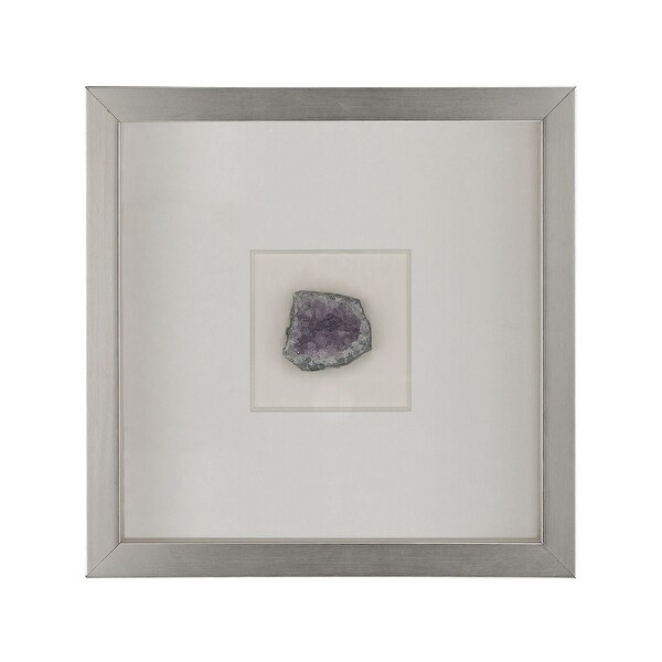 "Elk Home 168-007 Natural Mineral 12"" X 12"" Wall Decor - Silver / Violet Minerals"