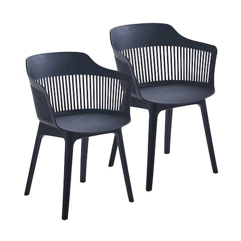 Porthos Home Palmer Dining Chairs Set of 2, Plastic Shell And Legs