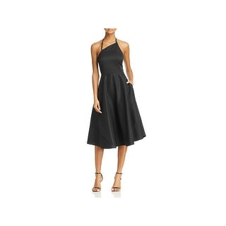 Betsey Johnson Womens Party Dress Asymmetrical Knee-Length