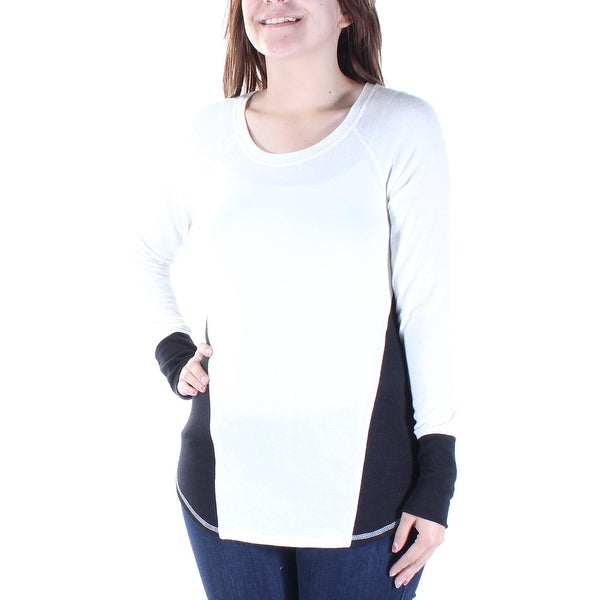 bbbe31eee67 Shop RACHEL ROY Womens White Color Block Long Sleeve Scoop Neck Top Size: S  - Free Shipping On Orders Over $45 - Overstock - 22427144