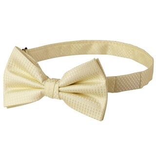 Jacob Alexander Men's Tone on Tone Houndstooth Pre-Tied Bow Tie - One size