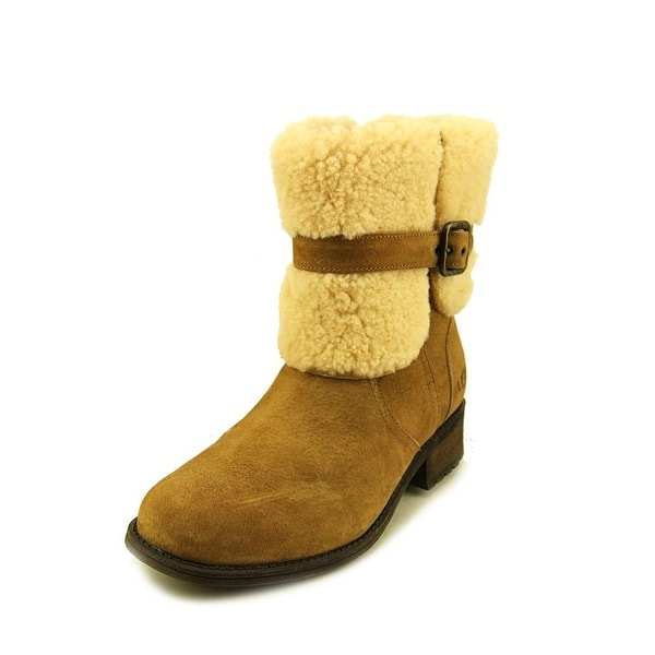 d38dc64aff1 Shop Ugg Australia Blayre II Women Round Toe Suede Tan Winter Boot ...