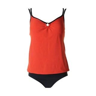 Mainstream Womens O-Ring Full Coverage Tankini Swimsuit
