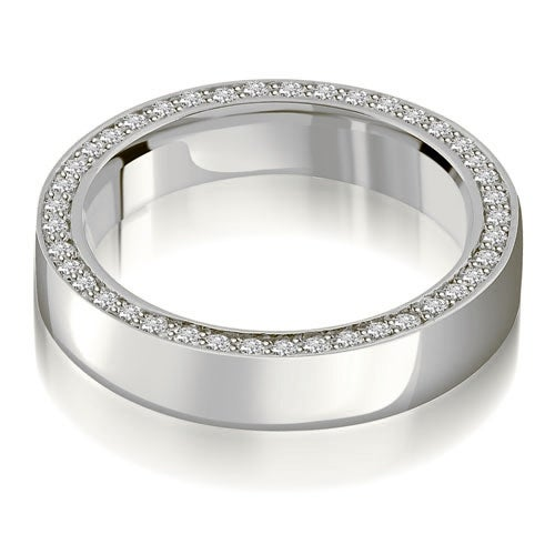 0.72 cttw. 14K White Gold Elegant Round Cut Diamond Eternity Band Ring