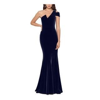 Link to BETSY & ADAM Navy Sleeveless Full-Length Sheath Dress  Size 8 Similar Items in Petites