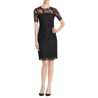 Elie Tahari Womens Bellamy Cocktail Dress Embroidered Lace