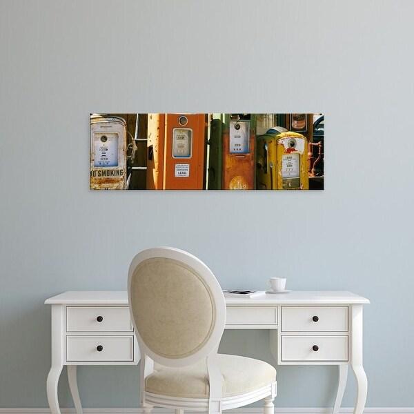 Easy Art Prints Panoramic Images's 'Old fuel pumps, Penasco, New Mexico, USA' Premium Canvas Art