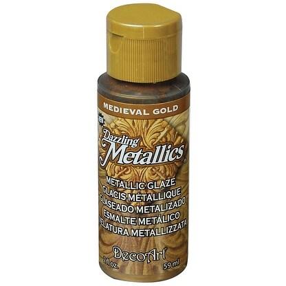 Dazzling Metallic Glaze Acrylic Paint 2oz-Medieval Gold