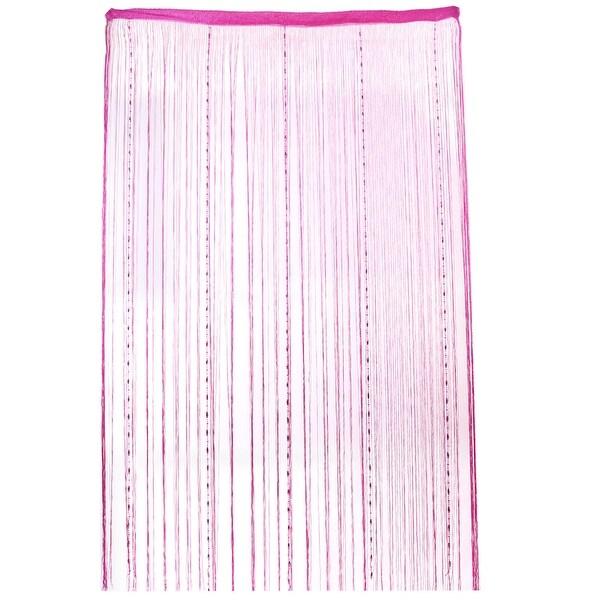 Household Yarn Tassels Decoration String Door Window Water Drop Curtain  Fuchsia