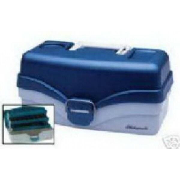 PlanoA 620206 Two Tray Tackle Box, Blue Metalllic/Off White