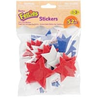 Stars W/Prints - Felties Stickers 52/Pkg
