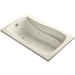 """Kohler K-1239 Mariposa Collection 60"""" Drop In Jetted Whirlpool Bath Tub with Reversible Drain"""