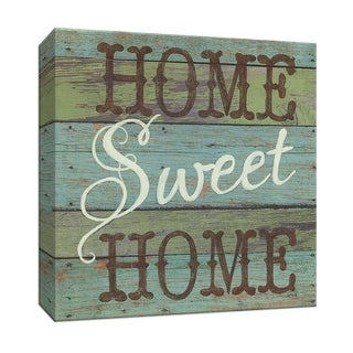 "PTM Images 9-147413  PTM Canvas Collection 12"" x 12"" - ""Home Sweet Home"" Giclee Sayings & Quotes Art Print on Canvas"