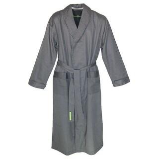 Robert Graham Men's Cotton Shawl Robe - Black - Large / XLarge