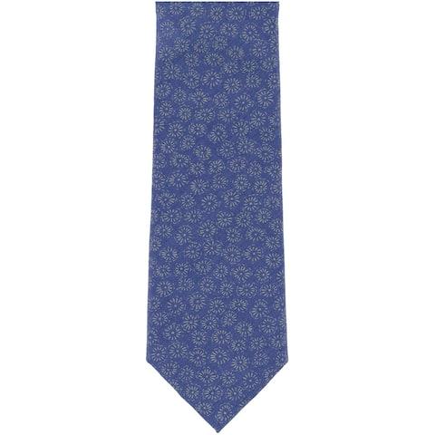 bar III Mens Basic Self-tied Necktie, blue, One Size - One Size