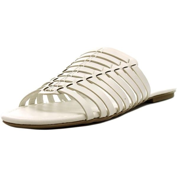 American Rag Paige Women Open Toe Synthetic White Slides Sandal