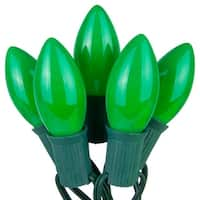 Wintergreen Lighting 67245 25 C9 7W Holiday Bulbs on Green Wire