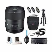 Sigma 35mm f/1.4 DG HSM Lens for Canon DSLR w/ Sony 32GB Memory Card Bundle