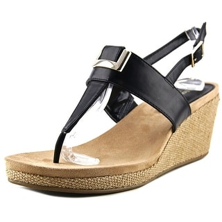 Style & Co Maryana Women Open Toe Synthetic Black Wedge Sandal