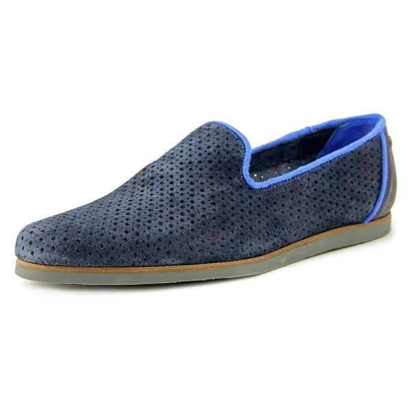 Ted Baker Oshua Men Round Toe Suede Blue Loafer