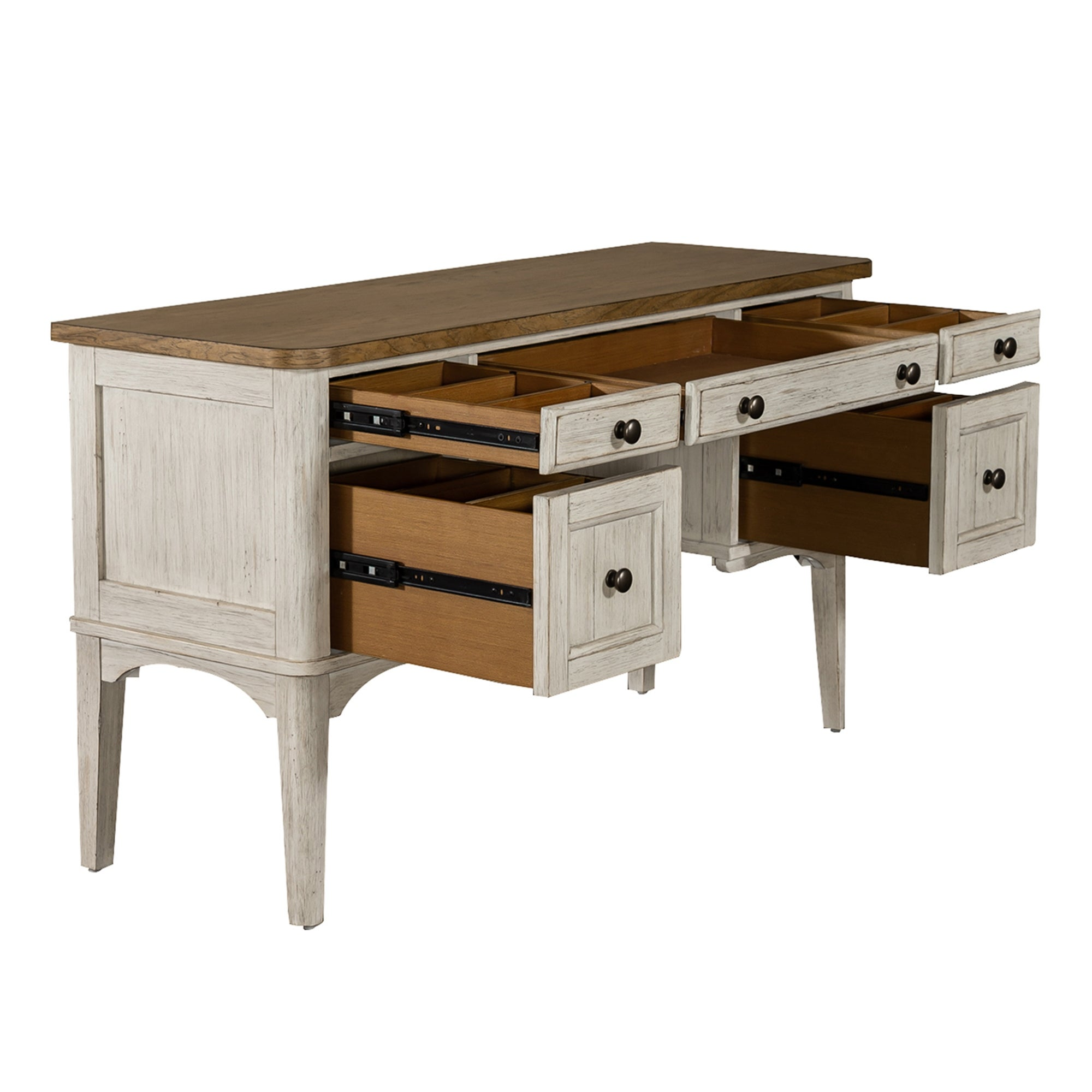 Farmhouse Reimagined Antique White Vanity Desk Overstock 30529206