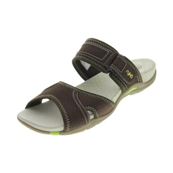 Ryka Womens Essence Slide Sandals Contrast Stitch Signature