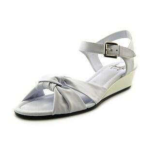Amalfi By Rangoni Mandy Women SS Open Toe Synthetic White Sandals