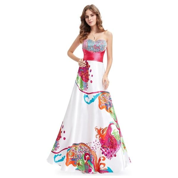 Shop Multi Coloured Floral Print Open Back Bridesmaid Dresses - Free ... 6bf5bcd6721e
