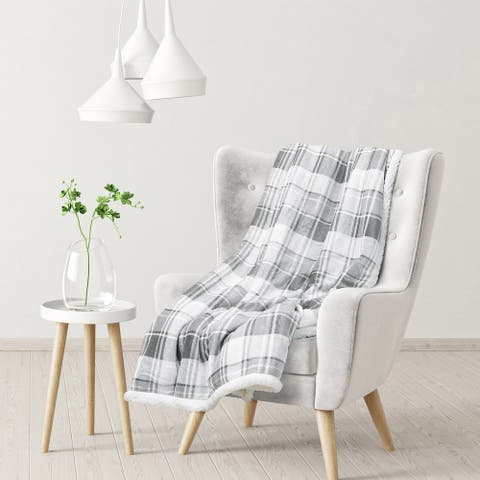 Sedona House Flannel to Sherpa Throw Blanket