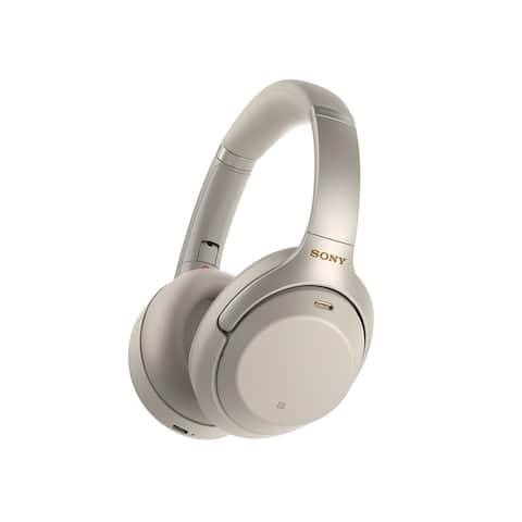 Sony WH1000XM3 Bluetooth Wireless Noise Canceling Headphones Silver